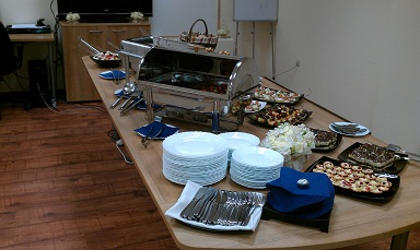 Lunch at the office. 50 guests.